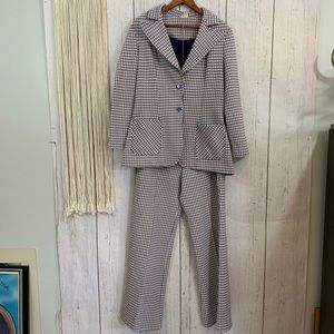 Vintage Red, White and Blue Pant Suit Set